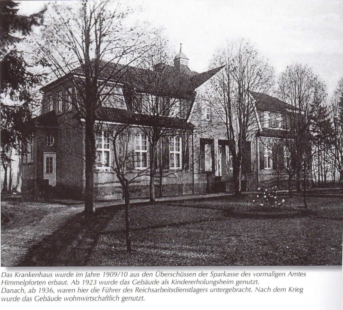 Himmelpforten Altes Krankenhaus Chronik